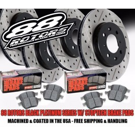 88 Rotors BPS Brake Kit Stoptech Brake Pads