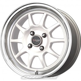 Drag DR16 16x7 4x100 +40 Offset Wheels (White, Set of 4)