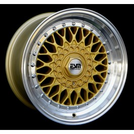 ESM 002R 17x8.5 +20 Offset 5x100 (Gold, Set of 4)