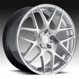 Eurotek UO2 18 X 8 +35 Offset 18 X 9 +38 Offset 5x120  (Hyper Silver, Staggered Set of 4)
