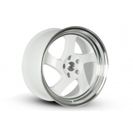Whistler KR1 17x9 5x114.3 +25 Offset (White with Machined Lip, Set of 4)