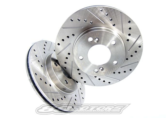 Front Rear Rotors w//Ceramic Pads OE Brakes 2002-2006 RSX Type S