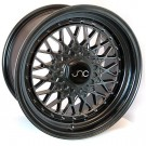 JNC 004 17x8.5 5x100/114.3 +15 Offset (Hyper Black, Set of 4)
