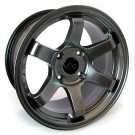 JNC 007 17x9 5x100 +25 Offset (Hyper Black, Set of 4)