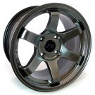 JNC 014 15x8.25 4x100 +20 Offset (Hyper Black, Set of 4)