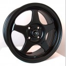 JNC 018 15x7.5 4x100 +33 Offset (Flat Black, Set of 4)