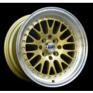 ESM 007 16x8 +20 Offset 4x100/4x114.3 (Gold, Set of 4)