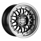 Stance Mindset Rims 15x8 4x100 +25 Offset (Gunmetal w/Polished Lip, Set of 4)