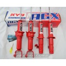 KYB AGX Adjustable Gas Shocks: 2002-2003 Subaru WRX Sedan Excluding STI (Set of 4)