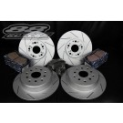 88 Rotors Platinum Series Brake Rotors + Brake Pads Kit - 2001-2005 Lexus IS300