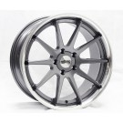 Starke Racing LS1 19x8.5 +35 Offset 19x9.5 +33 5x120 (Gunmetal w/ Machined Lip, Staggered Set of 4)