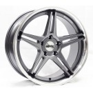 Starke Racing LS2 19x8.5 +35 Offset 19x9.5 +33 5x120 (Gunmetal w/ Machined Lip, Staggered Set of 4)