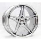 Starke Racing LS2 19x8.5 +35 Offset 19x9.5 +33 5x120 (Silver w/ Machined Lip, Staggered Set of 4)