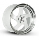 Whistler KR1 18x9.5 5x114.3 - 35 Offset (White w/ Machined Lip, Set of 4)