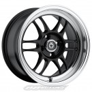 Konig Wideopen 15x8 4x100 +20 Offset (Black, Set of 4)
